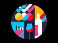 Wine Award Illustration