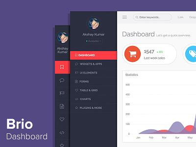 Brio Admin Dashboard clean template cpanel webapp admin dashboard