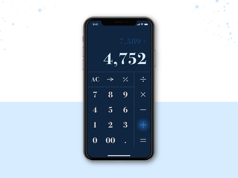 DailyUI 004 blue dailyui 004 calculator ui dailyui