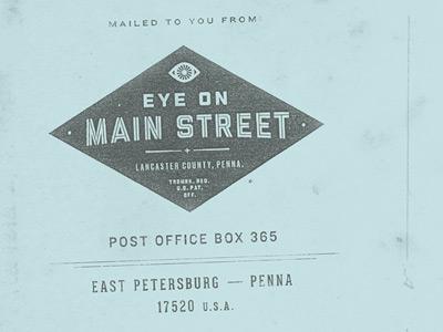 Eye on Main Street Envelope