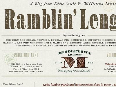 Ramblin' Lengths