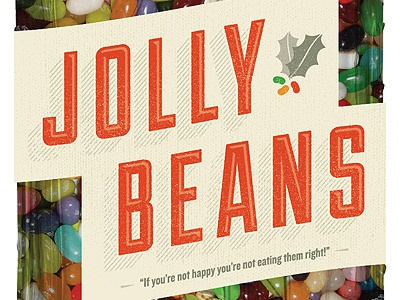 Jolly Beans jolly beans jelly beans christmas holiday typography packaging projekt sean costik mason jar jar projekt inc.