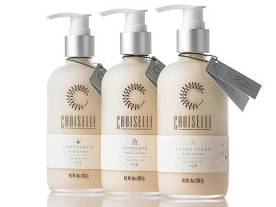 Choiselle Packaging No. 1 projekt inc. sean costik choiselle packaging c hangtag labels bottle design packaging design typography body lotion