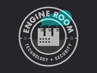 Engine Room sean costik projekt inc. engine room factory steam smoke smoke stacks seal screws badge