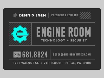 Engine Room Business Card
