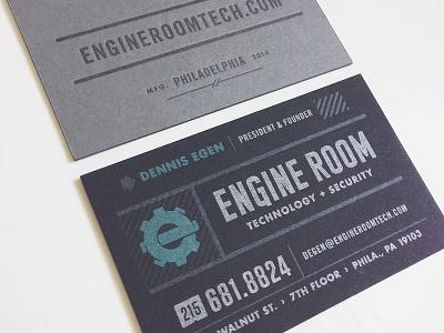 Final Engine Room business card sean costik projekt inc. business card e engine engine room gear industrial phone number letterpress