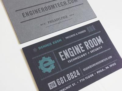 Final Engine Room business card