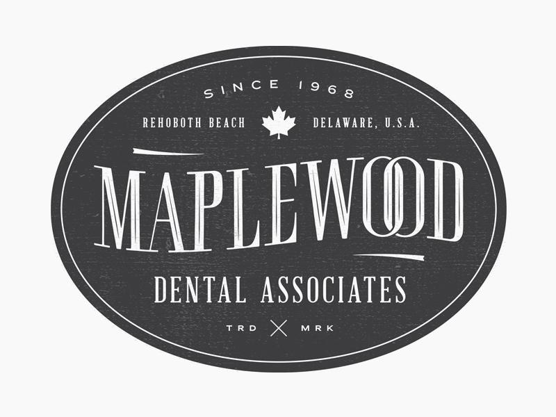 Maplewood - No. 1 dentist projekt inc. sean costik badge logo badge maple leaf maple logo design