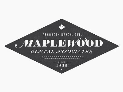 Maplewood - No. 2 water waves logo design maple maple leaf badge badge logo sean costik projekt inc. dentist