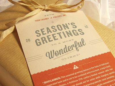 Season's Greetings #3 typography disclaimer red green christmas holiday gift promotion 2012 retro sean costik seasons greetings projekt projekt inc. wonderful