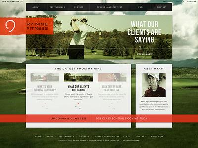 Ry Nine Fitness website