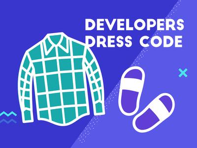 Developers  Dress Code - blue