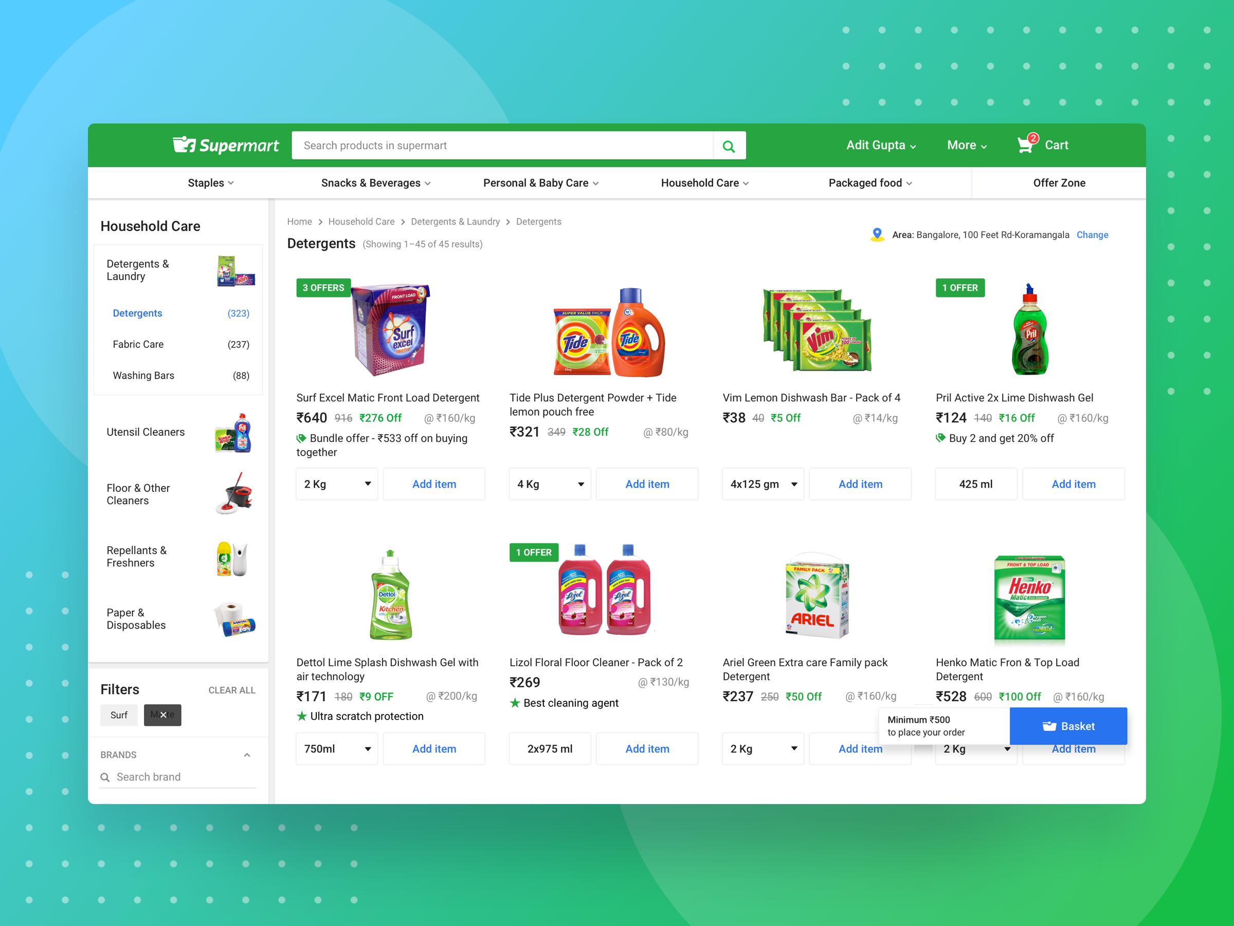 Supermart browse desktop attachment