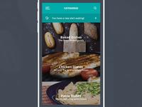 Food App Category Screen