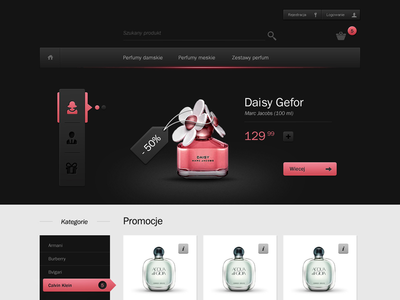 Perfumery Shop - Hello Dribble webdesign prestashop webpage shuma87 page perfumery website shop site perfume perfumes app