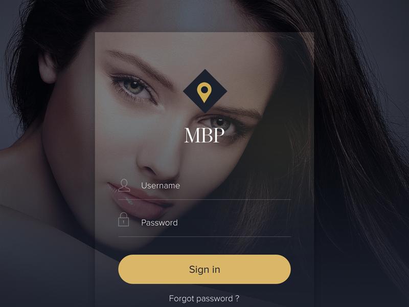 Login Beauty App Screen login flat password username ios8 ios7 app beauty ux ui