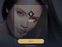 Login Beauty App Screen