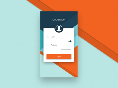 Login - Android App shuma87 icon material design google flat android login