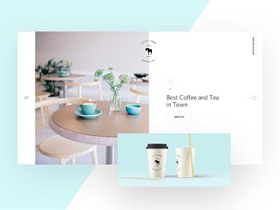 Coffee Shop Minimal landing page restaurant coffee shop web webdesign clean desktop tiles minimalism minimal ui flat