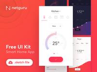 Freebie - Smart Home App - Sketch