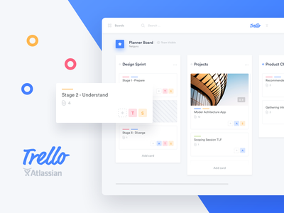 Trello Atlassian - Redesign admin cards ticket sidebar tables ui desktop dashboard statistics task redesign trello