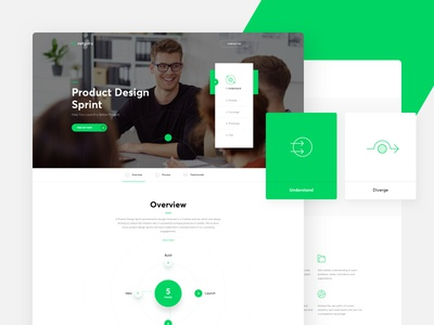 Netguru Redesign - Design Sprint webdesign web product design team services landing page icons home flat cta contact agency
