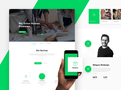 Netguru Redesign - Product Design agency contact cta flat home icons landing page services team product design web webdesign