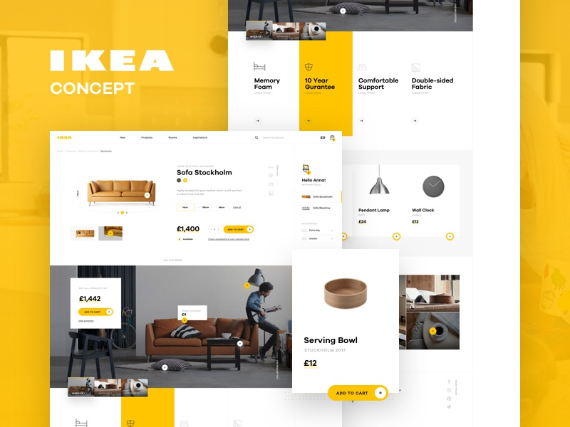 IKEA online experience redesigned – concept by Michal
