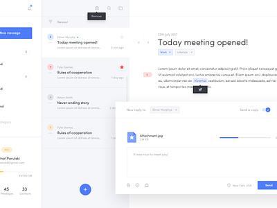Inbox - Web App dashboard e-mail interface web notification message inbox mailbox app