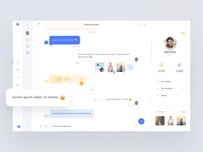 Chat/Messenger - Web App profile emoji inbox web app dashboard messages messenger chat