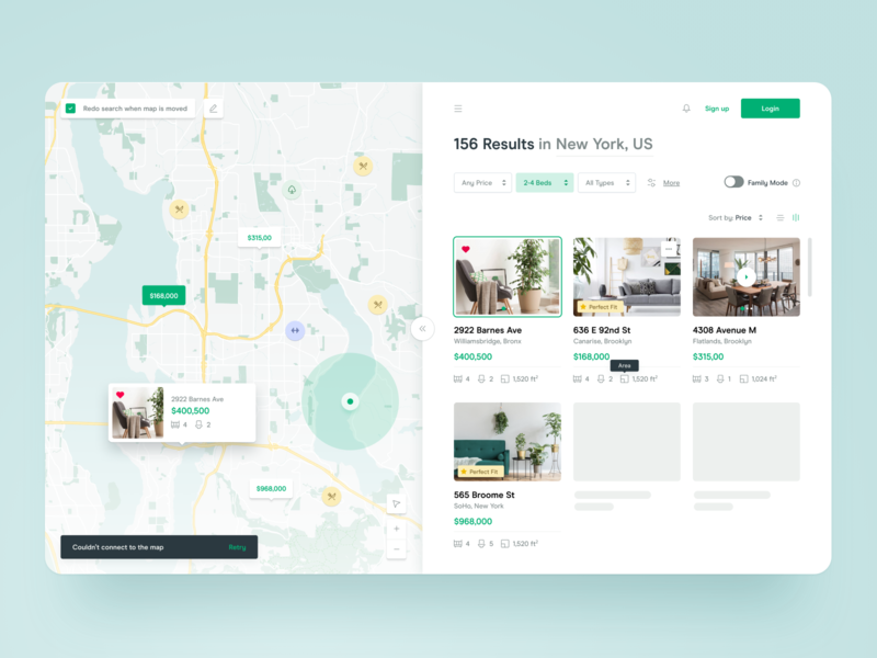 🏠Real Estate apartment tooltip filter region room interior cards hotel search renting web ux ui dashboard property house flat booking real estate map
