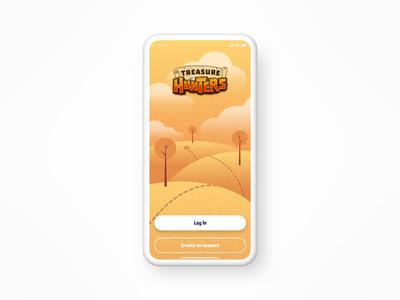 Treasure Hunters Mobile Game illustrator app mobile treasure hunters invision studio graphic  design illustration vector drawing mobile app game sign up account avatar ux ui