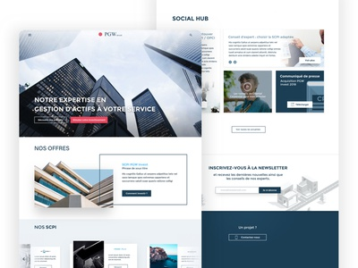 Pgw Homepage investments finance real estate graphic  design illustration ui ux vector design branding typography app web website homepage sketch corporate identity corporate design
