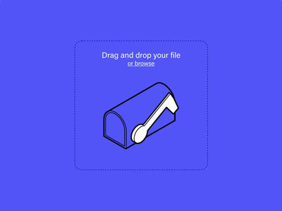 Drop Zone studio graphic  design mail mail box drag n drop ui prototype animation ux-design illustration shot lab invision studio animation interactive design