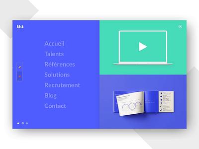 Menu interaction test invision studio website web design graphic  design ui ux interface interaction design animation navigation burger menu menu desktop