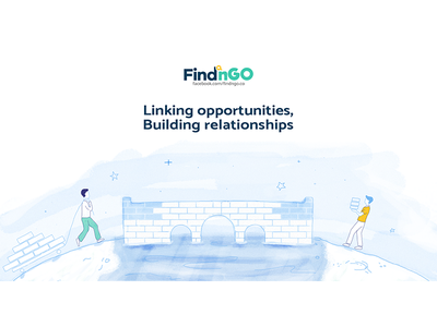Linking opportunities illustration communication common cause work together ngo volunteers winter build connect link