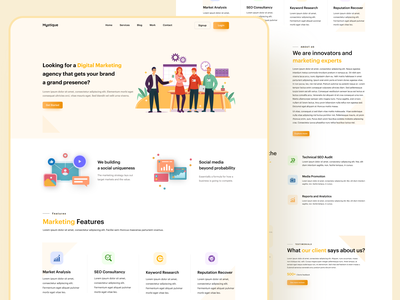 Marketing agency web design landingpage seo digital marketing company digital minimal marketing agency webdesign agency landing page digital marketing web page