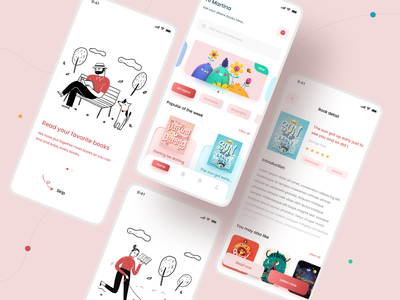 E-book app app appdesign uiux mobile app ui application ui online book illustraion minimal app design light book app ebook ebookapp