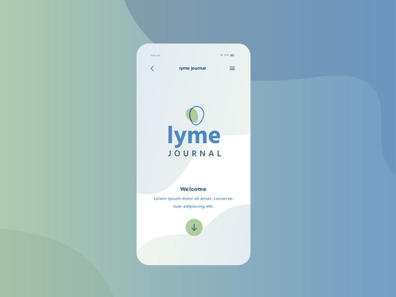 Lyme Journal app design logodesign logo app identity design