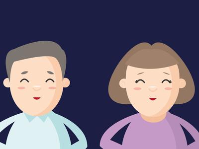 Hanne & Poul woman man target group persona illustration