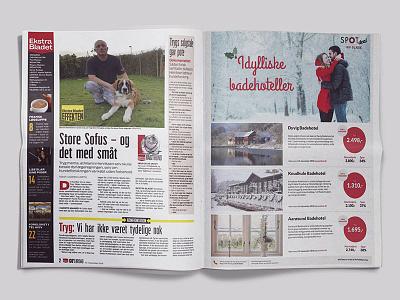 Juleidentitet 2018 på print newspaper design ad identity christmas