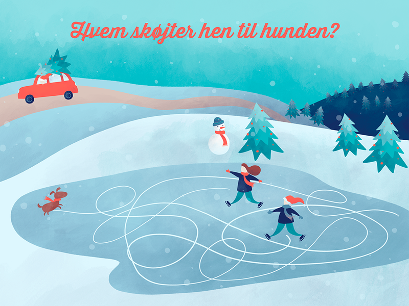 Christmas quiz 2019 socialmedia quiz procreate jul branding design identity christmas illustration