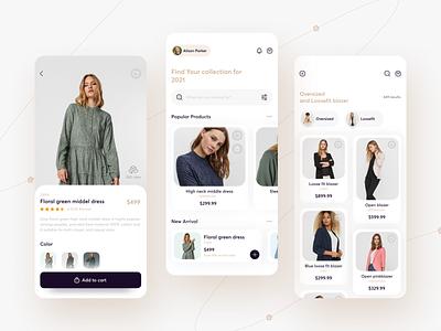 Ecommerce App ux app design e-commerce app e-comerce mobile app mobile ui shop design ios minimal ui app clothes store fashion clean ecommerce dailyui