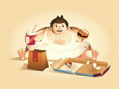 Junkman vector junk food fat man