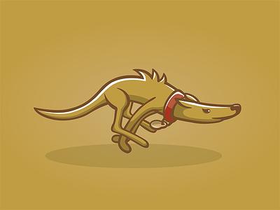 Lurcher illustrator character lurcher dog furry run illustration vectors fast