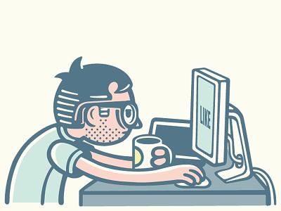Like like sketch vector website doodle selfie illustration computer