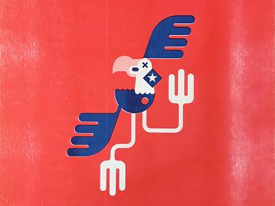 Detonate a Dime graphics graphic design vector detonate a dime eagle design illustration riso print riso
