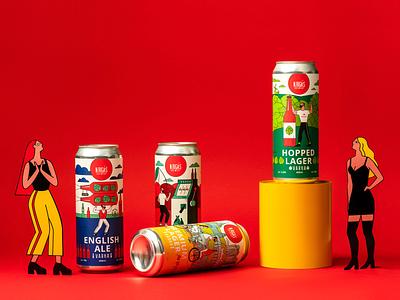 Varka. Craft Beer Design packaging design illustration beer brandingdesign packagingdesign branding
