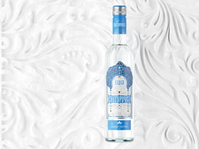 Vodka Snegurochka russian vodka lettering illustration brandingdesign packagingdesign packaging unblvbl branding
