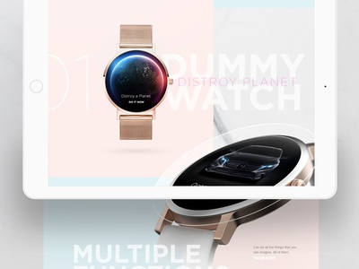 Dummy Watch Product Website